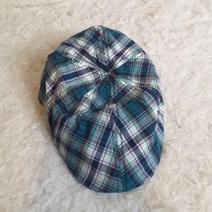 3/$30 Daniel Cremieux Collection blue plaid cap